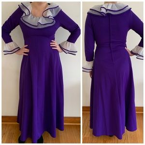 1970s vintage Personal by Leslie Fay purple maxi